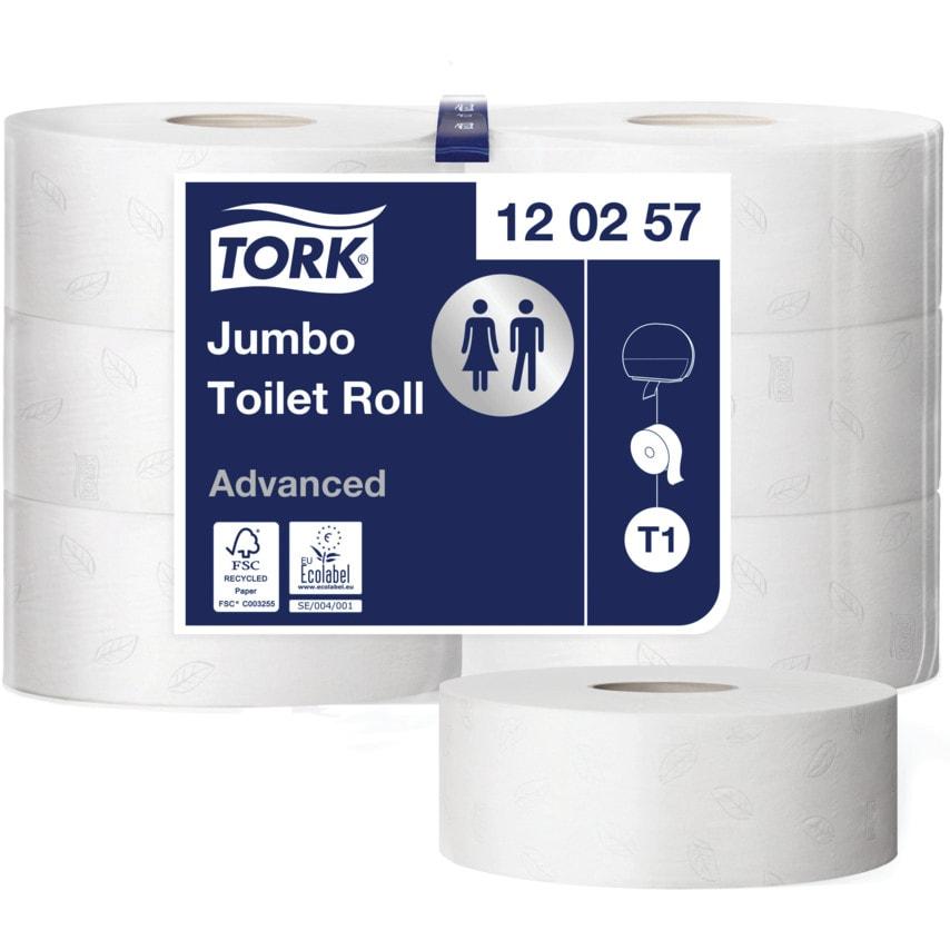 Tork 120257 Advanced Jumbo Roll 2Ply-2.1/4
