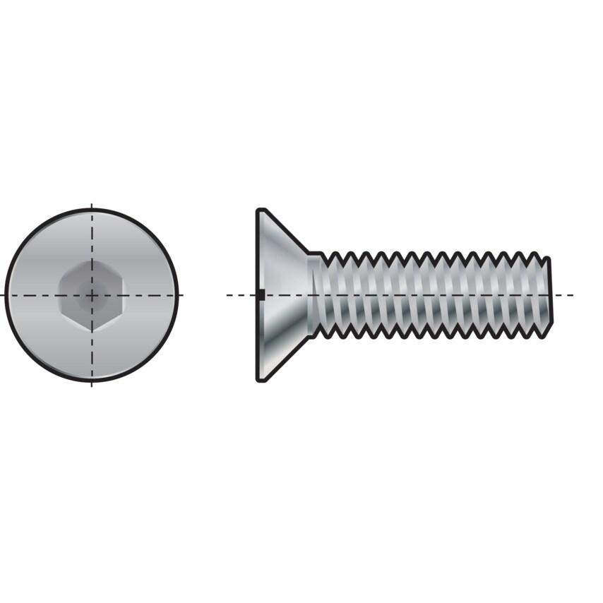 Qualfast M14X35 Skt Countersunk Head Screw GR-10.9 you get 25