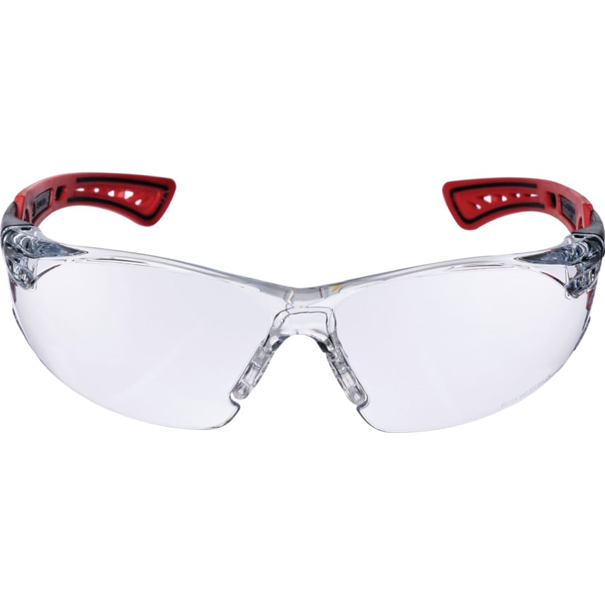 Bolle Rush+ RUSHPPSI Clear Polycarbonate Lens Red/Black Frame Spectacles